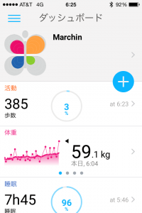 Withings Activite Pop ダッシュボード