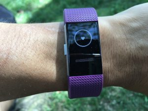 Fitbit Charge 2 呼吸セッション中