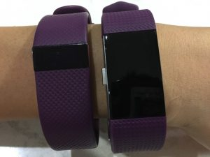 Fitbit Charge 2 vs Charge HR 上から