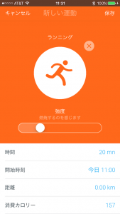 Withings Activite Steel アクティビティ入力 詳細