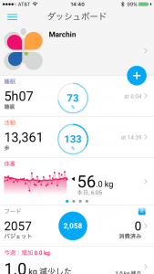 Withings Activite Steel ダッシュボード