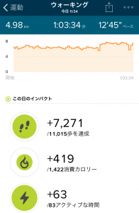 Withings Steel HR vs Fitbit Charge 2 ウォーキング比較詳細