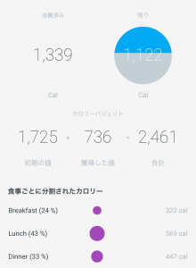 Withings Steel HR カロリー管理