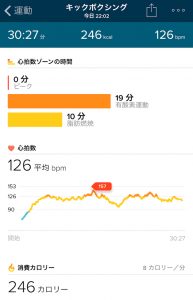 Withings Steel HR vs Fitbit Charge 2 キックボクシング比較