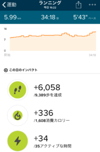 Misfit Vapor vs Fitbit Charge 2 アクティビティ詳細