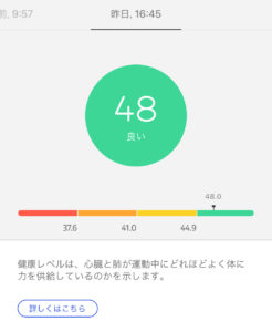 Withings Steel HR Sport 健康レベル