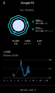 Misfit Vapor 2 Wear OS Google Fit Activity History