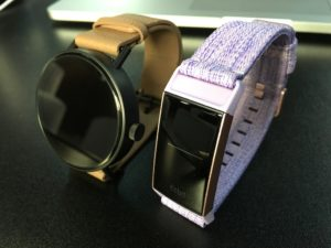 Misfit Vapor 2 vs Fitbit Charge 3 Angle