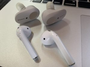 WF-1000XM3 vs AirPods Earpiece