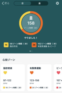 Fitbit Sense App Active Zone Summary