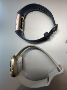 Fitbit Sense vs Charge 4 Side View
